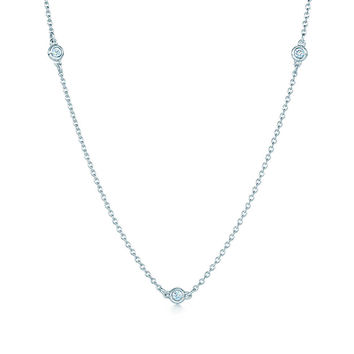 Tiffany & Co. - Elsa Peretti® Diamonds by the Yard® necklace in sterling silver.
