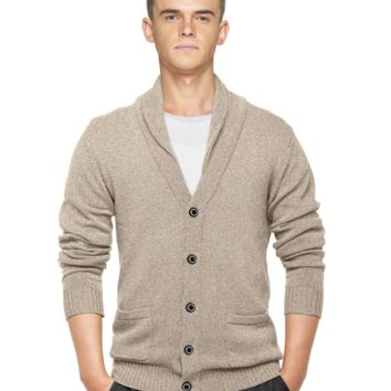Match Men's K|G Series Shawl Collar Cardigan Sweater