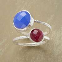 RUBY AND CERULEAN RING DUO         -                  Gemstone         -                  Rings         -                  Jewelry                         Robert Redford's Sundance Catalog