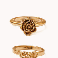 Sweet As a Rose Ring Set