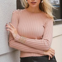 Bottoming O Neck Lace Up Sweater Full Sleeve Short Sweater Women Casual Computer Knitted Street Fashion Jumper