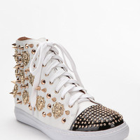 Urban Outfitters - Jeffrey Campbell Lion-Stud Leather High-Top Sneaker
