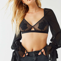Out From Under Over The Moon Applique Cropped Top | Urban Outfitters