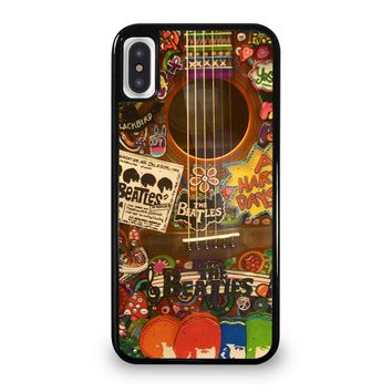 THE BEATLES GUITAR COLLAGE iPhone 5/5S/SE 5C 6/6S 7 8 Plus X/XS Max XR Case Cover
