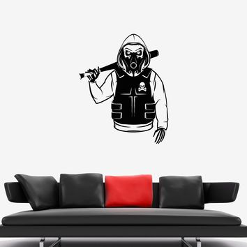 Wall Decal Skull Skeleton Rebel Marauder Bandit Camouflage Vinyl Sticker Unique Gift (ed765)