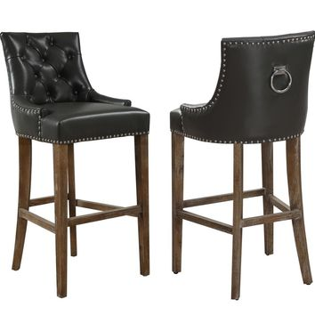 TOV Furniture Uptown Leather Barstool