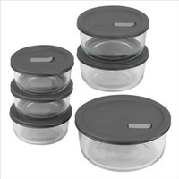 Pyrex 1088843 Pyrex No Leak Lids 12-Pc Storage Set