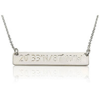 Coordinates Bar Necklace - .925 Sterling Silver