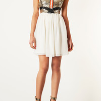 Sequin Panel Skater Dress - Dresses - Clothing - Topshop