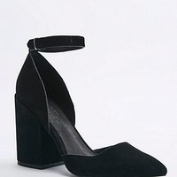 Karmen Green Suede Heeled Shoe - Urban Outfitters