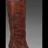 Frye Jackie Button in Brown