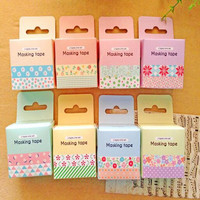 2 pcs/bag New Kawaii Flower Lace Japanese Washi Tape Masking Tape for Home Decoration Scrapbooking Stationery Free shipping 138
