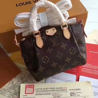 Louis Vuitton Women Shopping Bag Leather Tote Handbag Shoulder Bag
