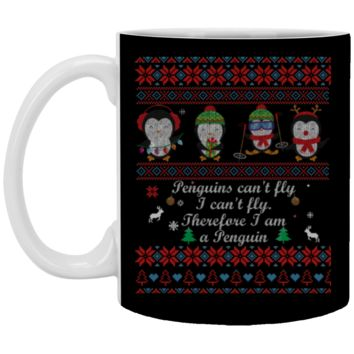 penguins can't fly i can't fly therefore i am a penguin XP8434 11 oz. White Mug