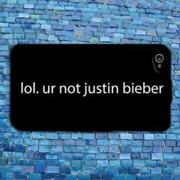 Fun Cute Justin Bieber Phone Cover Funny Music Case iPhone 4 4s 5 5s 5c 6 + iPod