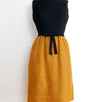 Honey Bee Dress [1960s Mod Zooey Bow Dress] : Vintage Clothing, Vintage Dresses, ADOREVINTAGE.com, A vintage clothing boutique for the woman with discerning tastes