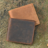 vintage handmade genuine leather wallet card hold gift 20