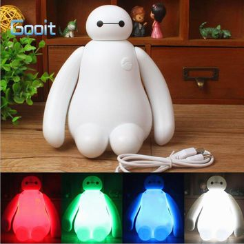 Novelty Baymax Cartoon LED Night desk Light Baby Room Kids Bed Lamp Sleeping Night Lamp Decoration Table Lamp 16Colors Changing