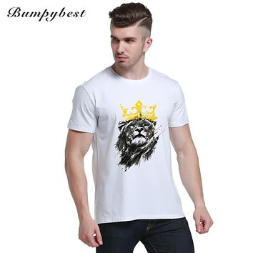 king of lion pencil sketch design retro animal printed men t-shirt short sleeve funny tee Hipster popular O-Neck tops