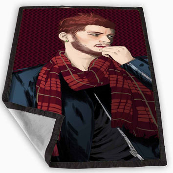 One Direction Zayn Malik painting Blanket for Kids Blanket, Fleece Blanket Cute and Awesome Blanket for your bedding, Blanket fleece **