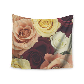 "Libertad Leal ""Vintage Roses"" Wall Tapestry"