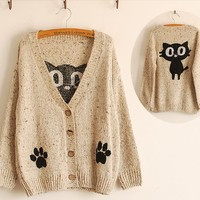 Black Cat Sweater by Magical Girl Clothing ♡