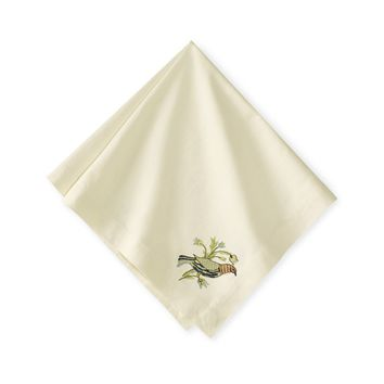 Lancaster Embroidered Napkins, Set of 4