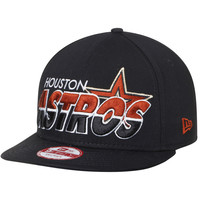 Men's Houston Astros New Era Black Team Horizon 9FIFTY Snapback Adjustable Hat