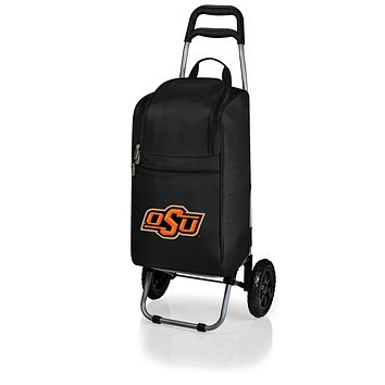 Oklahoma State Cowboys Cart Cooler with Trolley-Black Digital Print