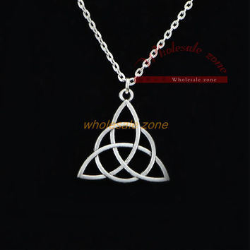 WF0711 Charmed Tv series antique silver pendant necklace,Hot fashion jewelry for friend