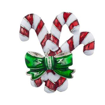 Lux Accessories Holiday Christmas Xmas Jgreen Red Wreath Brooch Pin Jewelry Gift