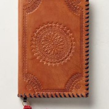 Embossed Leather Journal by Anthropologie