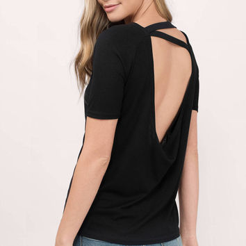 Show Some Back Strappy Low Back Tee