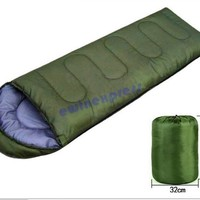 Green Outdoor Camping Hiking Single sleeping bags blanket tents Lightweight Compression Stuff Sack Waterproof
