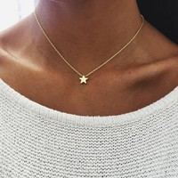 Hot Sale Accessories Fashion Stars Pendant Collar Bone Sweater Necklace