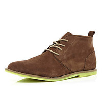Brown contrast bright sole desert boots - boots - shoes / boots - men