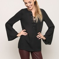 Foxy Lady Blouse - Black