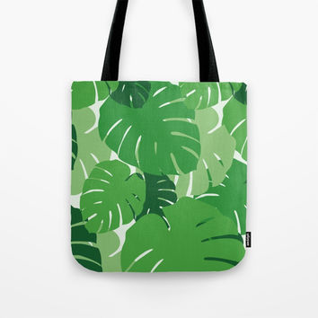 Summer leaves Tote Bag by minuskel-h