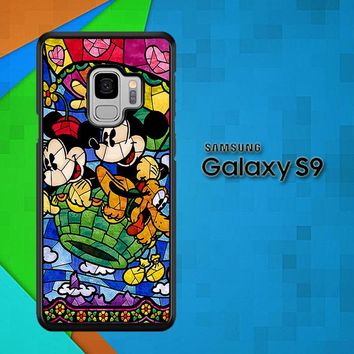 Disney Mickey & Minnie Mouse Stained Glass V0102 Samsung Galaxy S9 Case