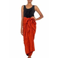 Cotton Blend Sarong, 'Orange Coffee Bean' (Indonesia) | Overstock.com Shopping - The Best Deals on Sarongs/Cover Ups