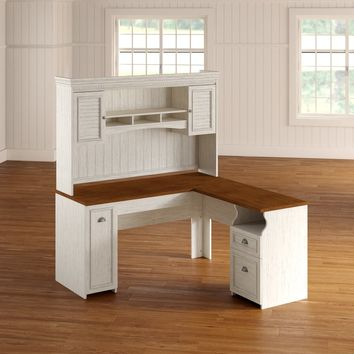 Oakridge L-Shaped Executive Desk with Hutch