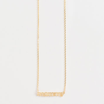 Thea Mommy Dainty Gold Necklace