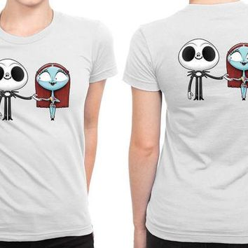 DCCKL83 Jack And Sally Romantic B 2 Sided Womens T Shirt