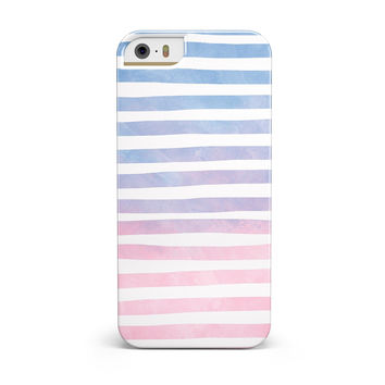 Pink to Blue WaterColor Ombre Stripes INK-Fuzed Case for the iPhone 5/5S/SE