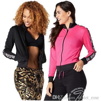 woman JACKETS When The Sun Goes Down Mesh Zip Up Jacket black/pink