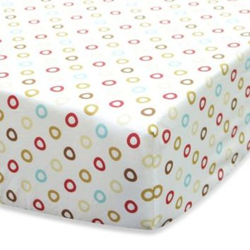 Belle Puppy Play Fitted Crib Sheet