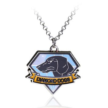 S/C Metal Gear Solid The Phantom Pain Dog Tag Choker Necklace CZ Dogs & Fox Hound Alloy Necklace For Women Men Jewelry Gift