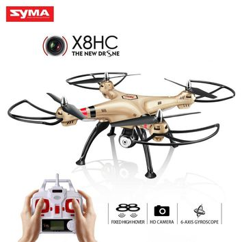 Syma X8HC X8HC-1 With 2MP HD Camera 4CH 6Axis Fixed High Hover Headless RTF RC Quadrocopter Drone
