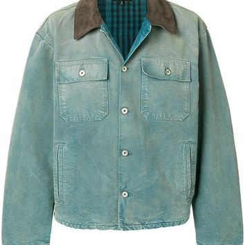 Corduroy Collar Denim Jacket by YEEZY