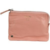 Pink Recycled Leather Zip Pouch Wallet - LZP - Small Accessories - Womens